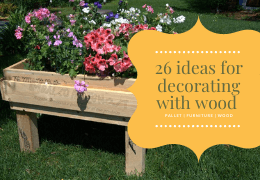 26 Ideas for decorating with wood