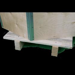 Cassa in legno compensato pieghevole - dettaglio montaggio