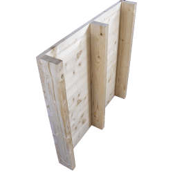 Palette en bois à deux entrées léger - Façade rabotée sans espace entre les planches à l'arrière