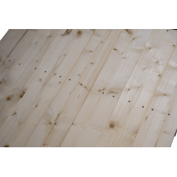Palette en bois à deux entrées léger - Façade rabotée sans espace entre les planches détail 2