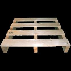 Pallet in legno a 2 vie leggero - Frontale non piallato
