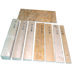 Wooden Beam 75x90mm - Comparison with other measures