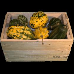 Cassa per regali - Frontale con frutta