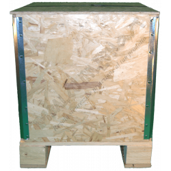 Cassa in legno osb pieghevole - Frontale