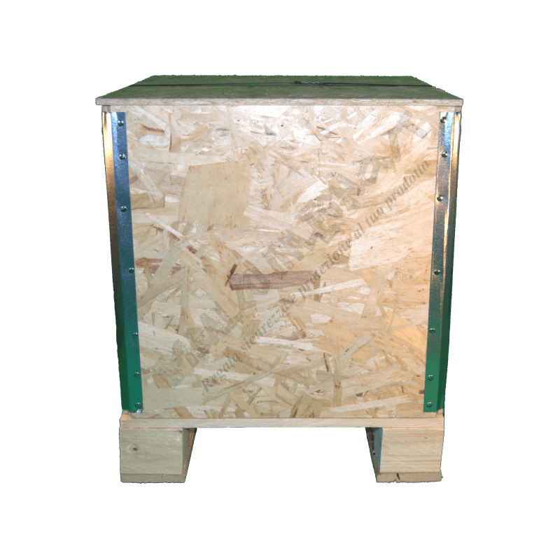 Wooden Osb Foldable box - Front