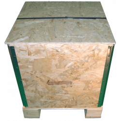 Cassa in legno osb pieghevole - Frontale alto