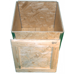 Wooden Osb Foldable box - Front cover open