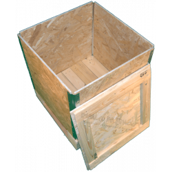 Wooden Osb Foldable box - Side cover open