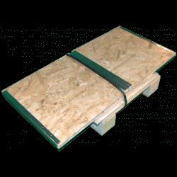 Wooden Osb Foldable box - Assembled side