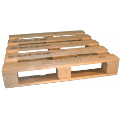 Four Way Block wooden pallet - low Side