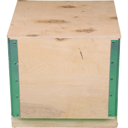 Wooden Plywood Foldable box - Front