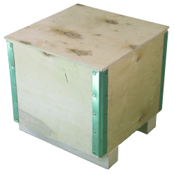 Wooden Plywood Foldable box - right side