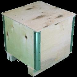 Cassa in legno compensato pieghevole - Laterale destro