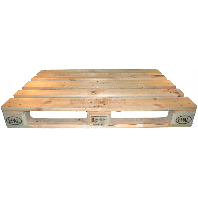 Pallet 120x80 Epal nuovo - Frontale basso