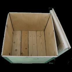 Cassa in legno compensato pieghevole - dettaglio interno