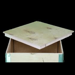 Cassa in legno compensato pieghevole - dettaglio coperchio 2